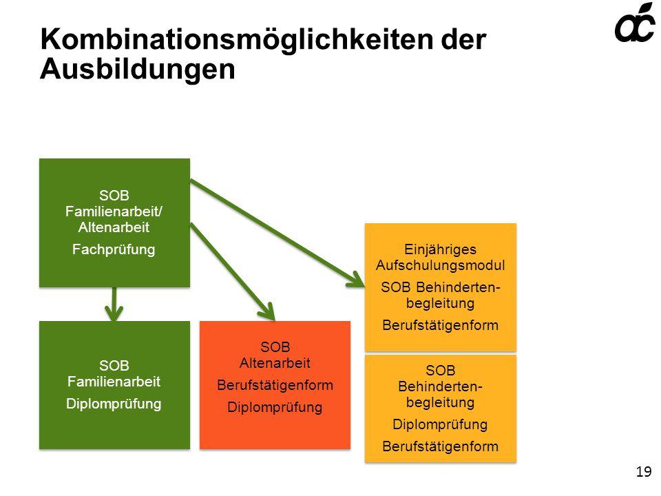 Kombinationsmöglichkeiten der Ausbildungen