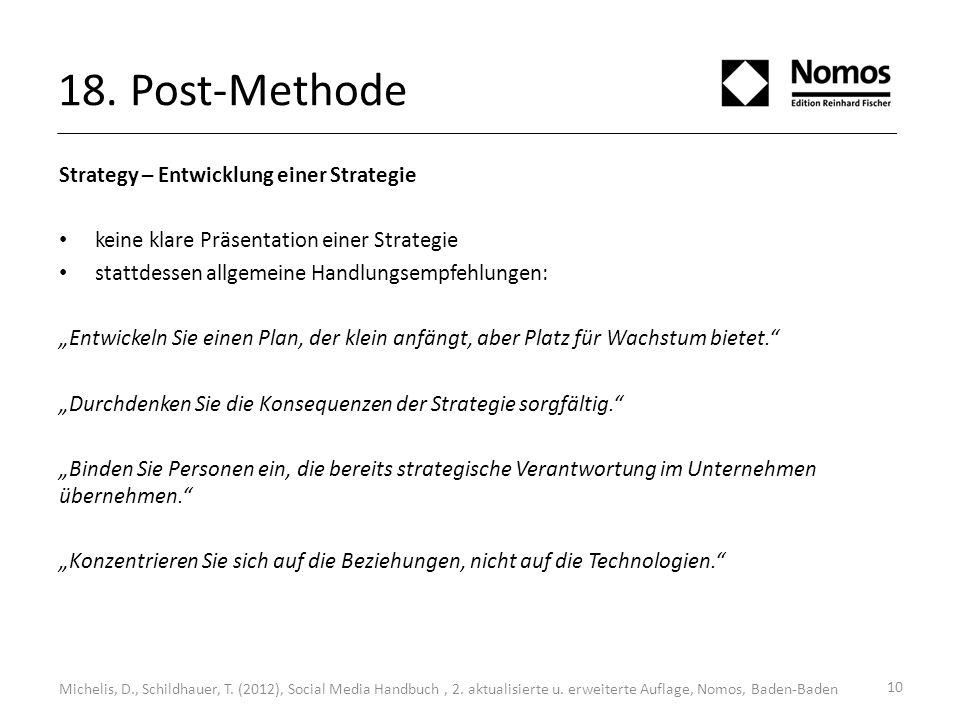 18. Post-Methode Strategy – Entwicklung einer Strategie