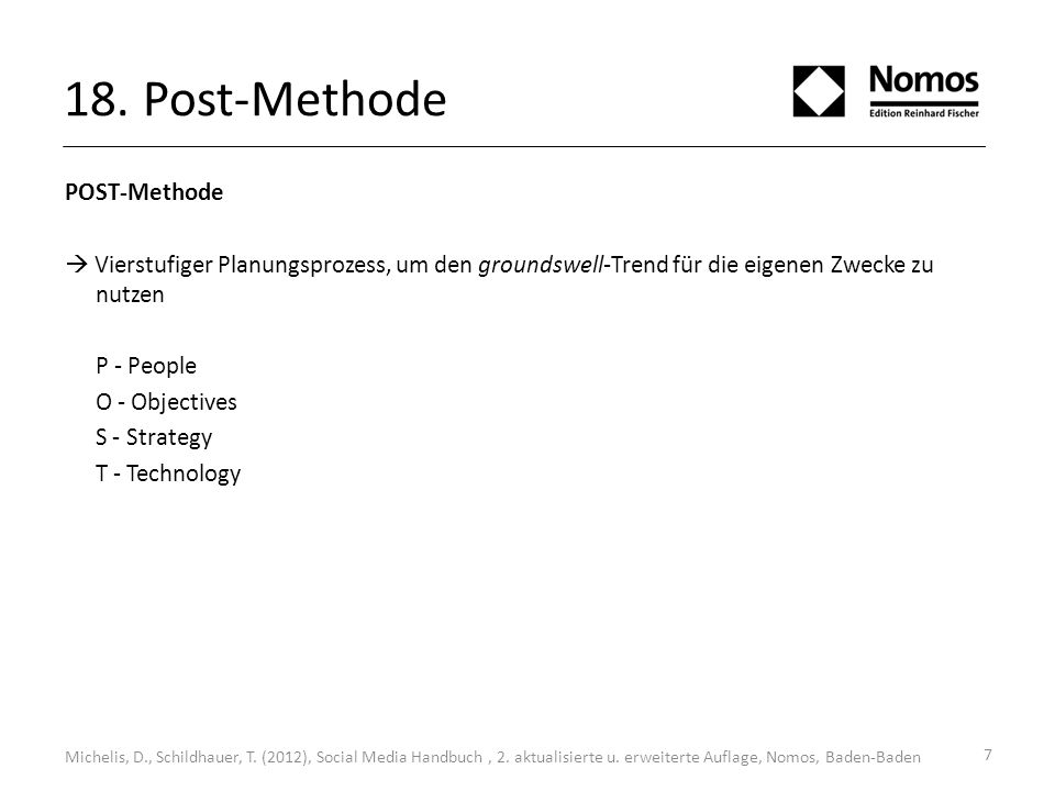 18. Post-Methode