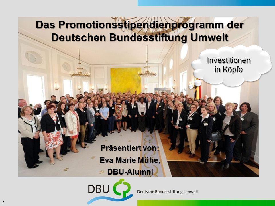 Das Promotionsstipendienprogramm der Deutschen Bundesstiftung Umwelt