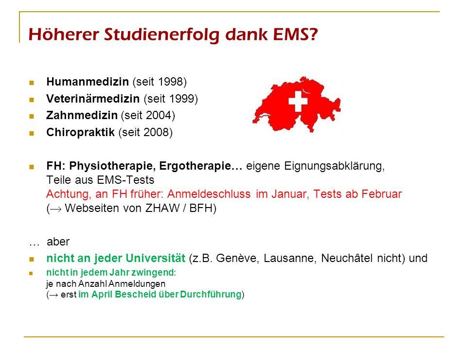 Höherer Studienerfolg dank EMS