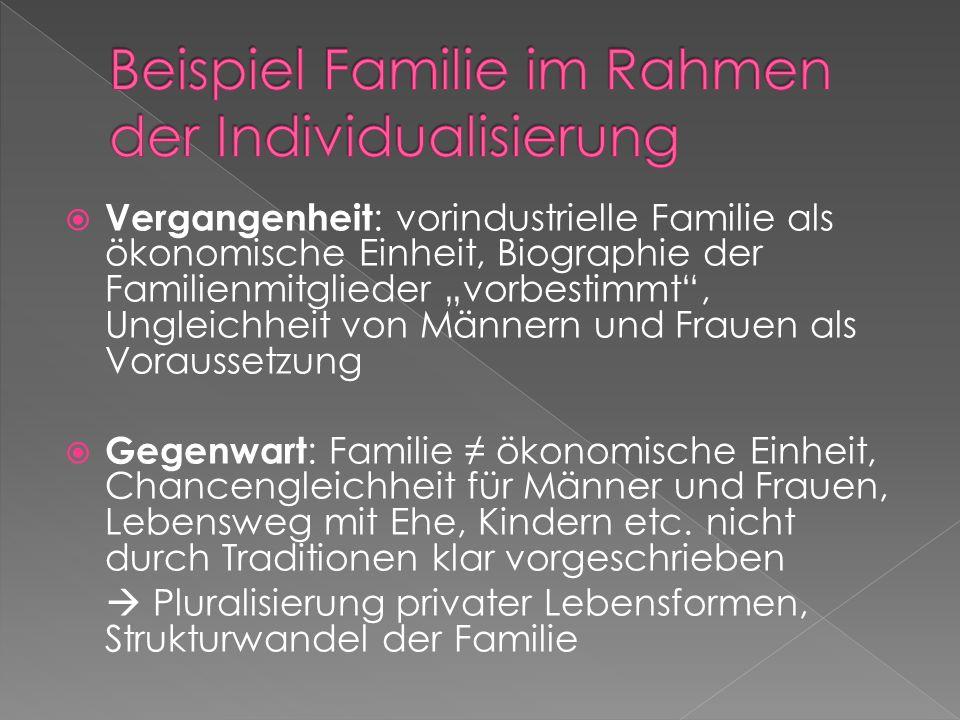Beispiel Familie im Rahmen der Individualisierung