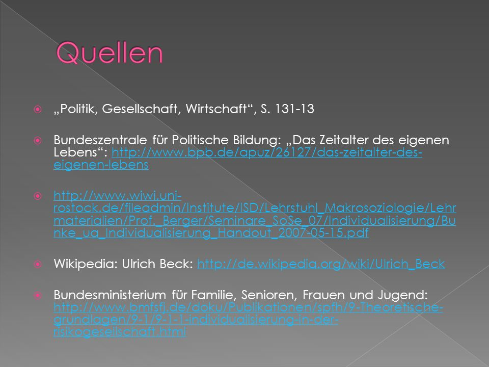 "Quellen ""Politik, Gesellschaft, Wirtschaft , S. 131-13"