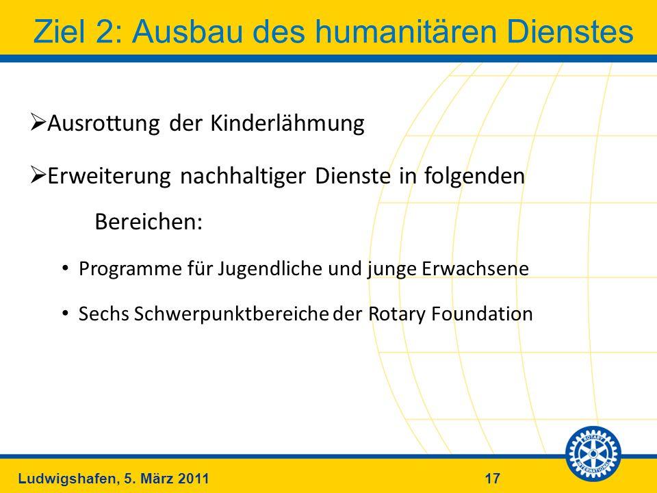Ziel 2: Ausbau des humanitären Dienstes