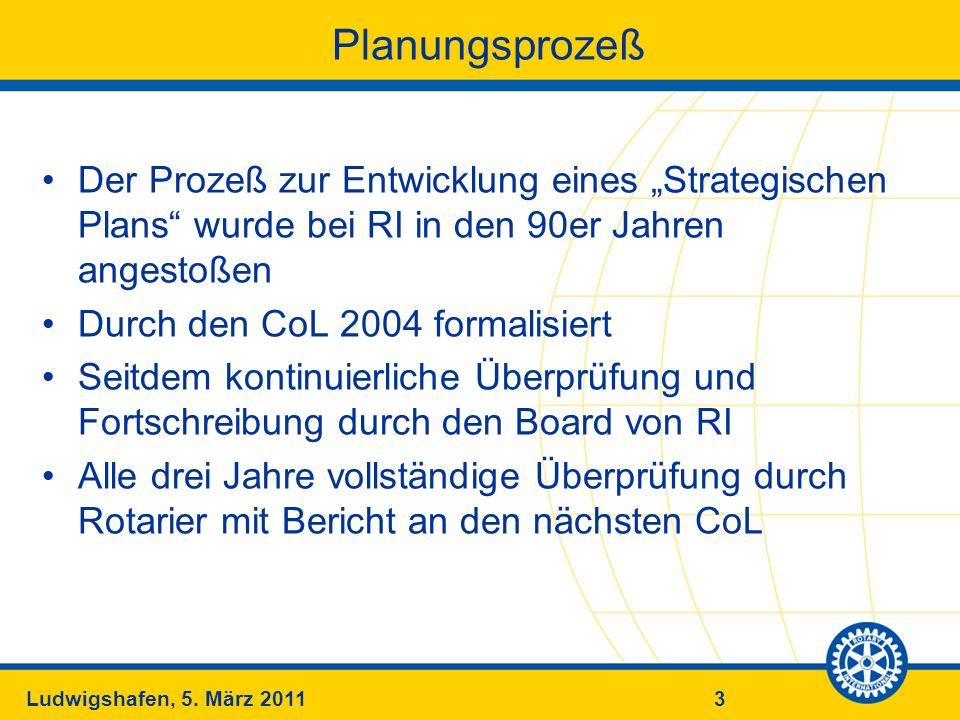 """PlanungsprozeßDer Prozeß zur Entwicklung eines """"Strategischen Plans wurde bei RI in den 90er Jahren angestoßen."""