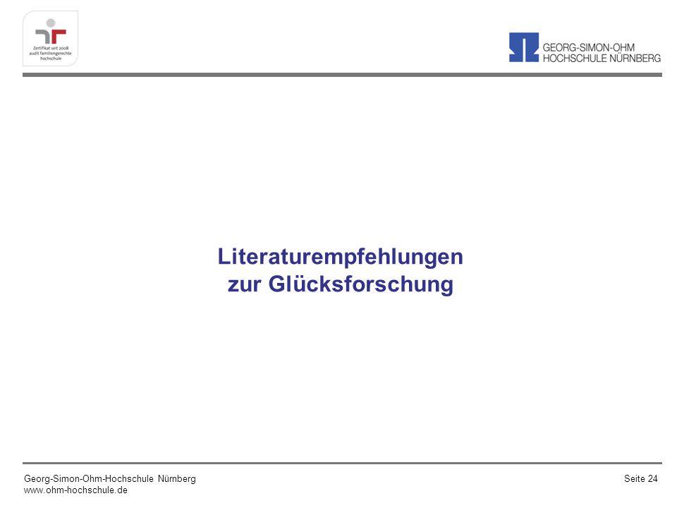 Literaturempfehlungen zur Glücksforschung