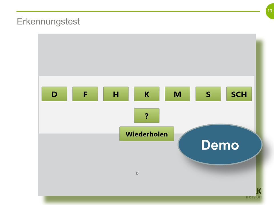 Erkennungstest Demo.