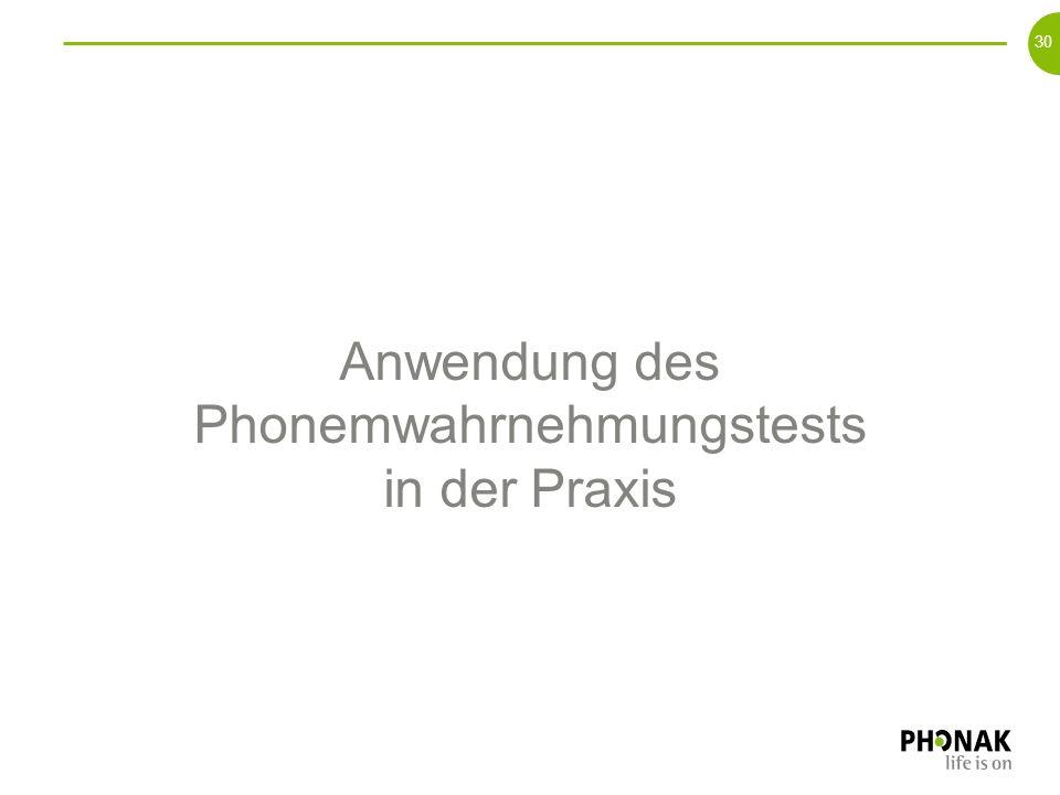 Anwendung des Phonemwahrnehmungstests in der Praxis