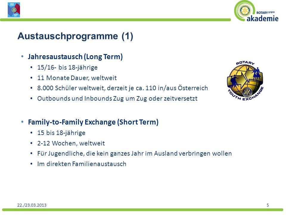 Austauschprogramme (1)