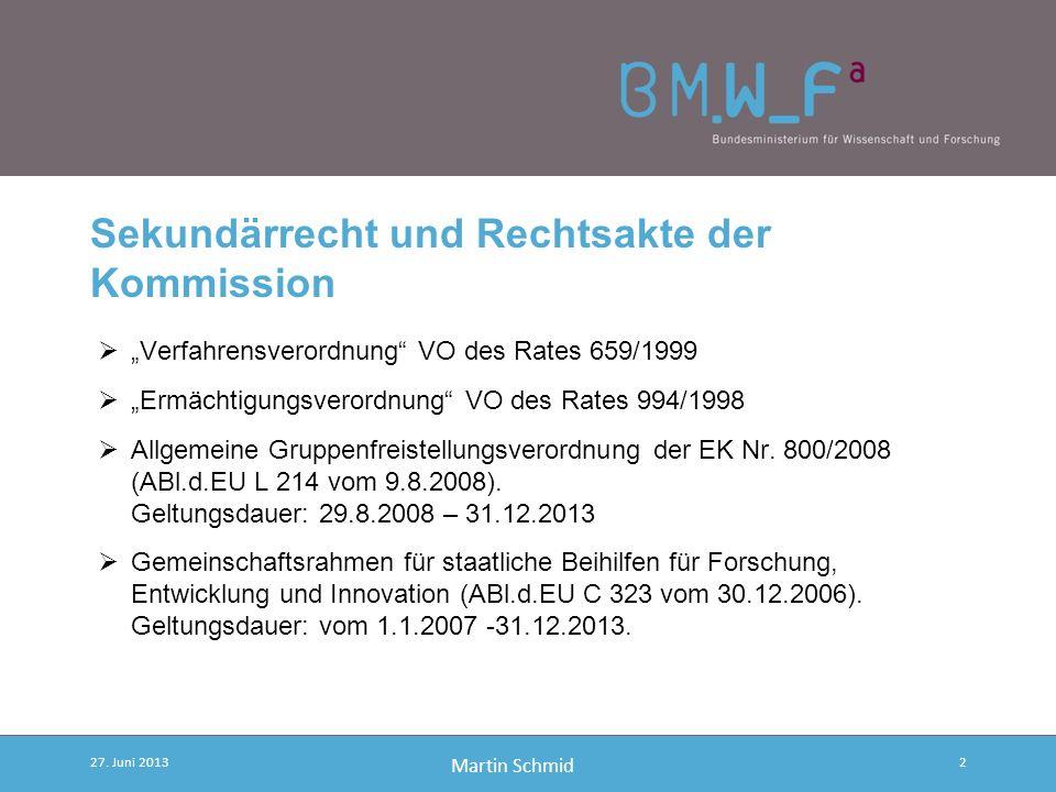 Sekundärrecht und Rechtsakte der Kommission