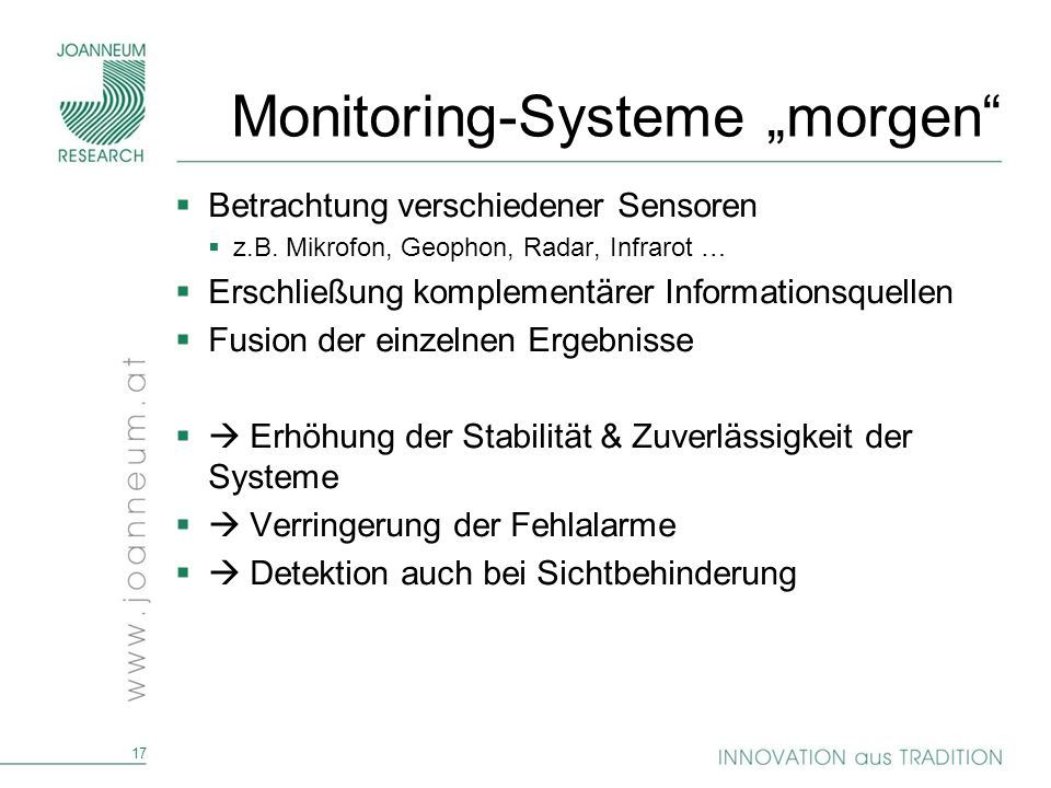 "Monitoring-Systeme ""morgen"