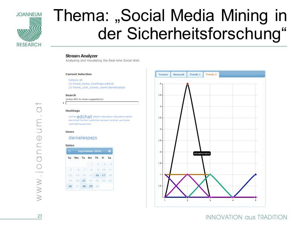 "Thema: ""Social Media Mining in der Sicherheitsforschung"