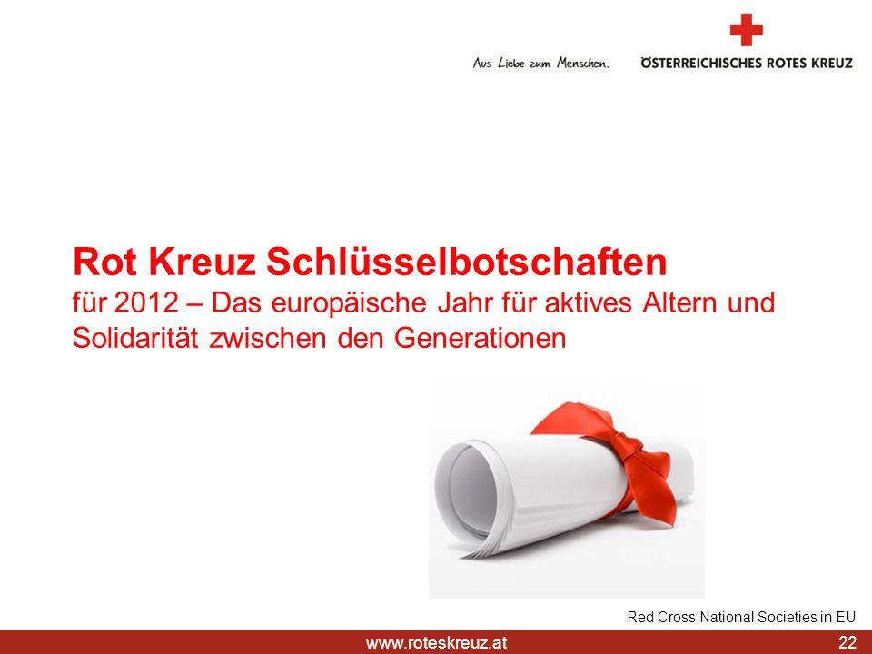 Rot Kreuz Schlüsselbotschaften für 2012 – Das europäische Jahr für aktives Altern und Solidarität zwischen den Generationen