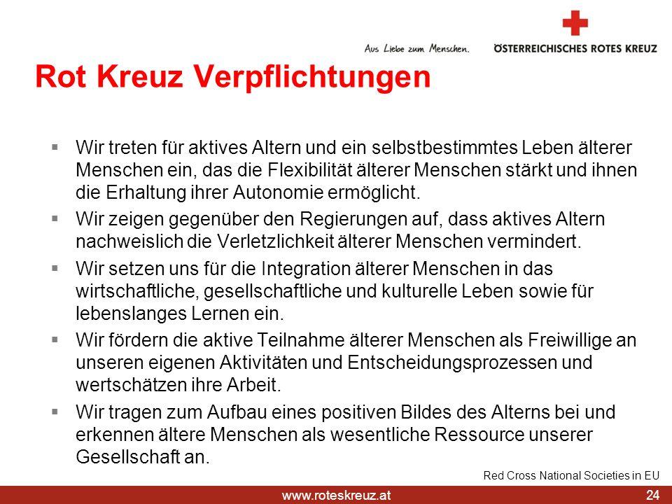 Rot Kreuz Verpflichtungen