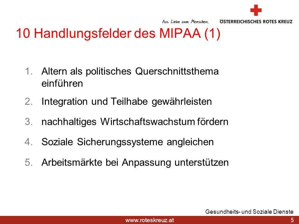10 Handlungsfelder des MIPAA (1)