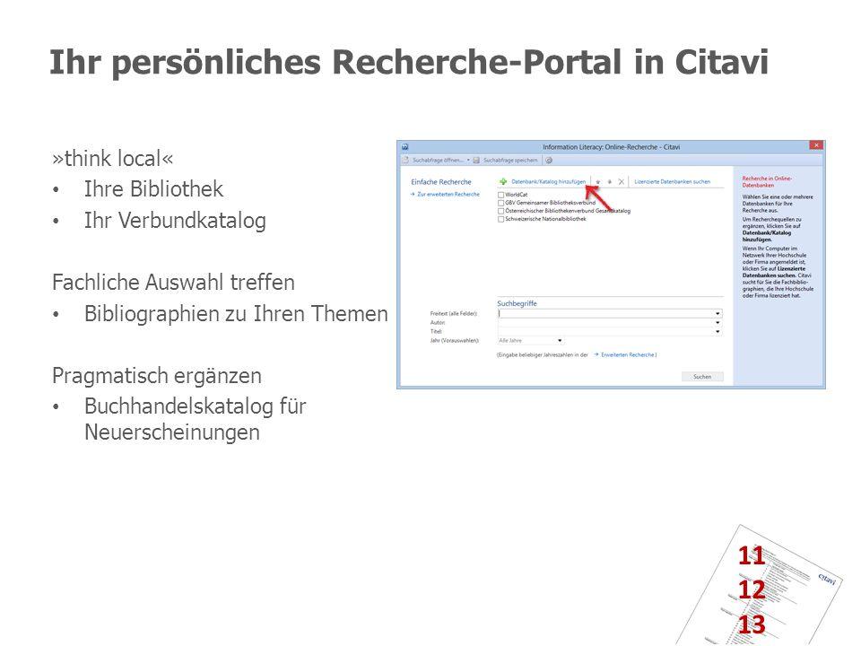 Ihr persönliches Recherche-Portal in Citavi