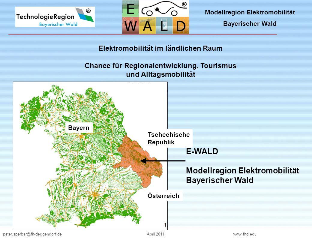 Modellregion Elektromobilität Bayerischer Wald