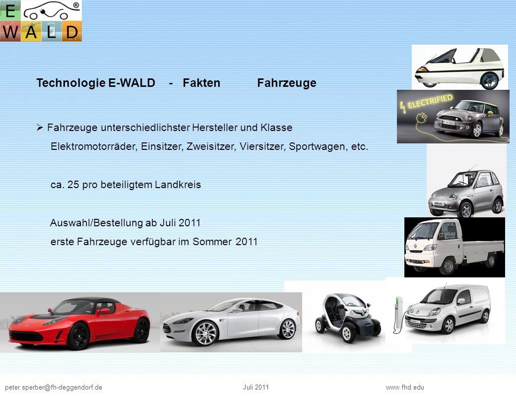 Technologie E-WALD - Fakten Fahrzeuge