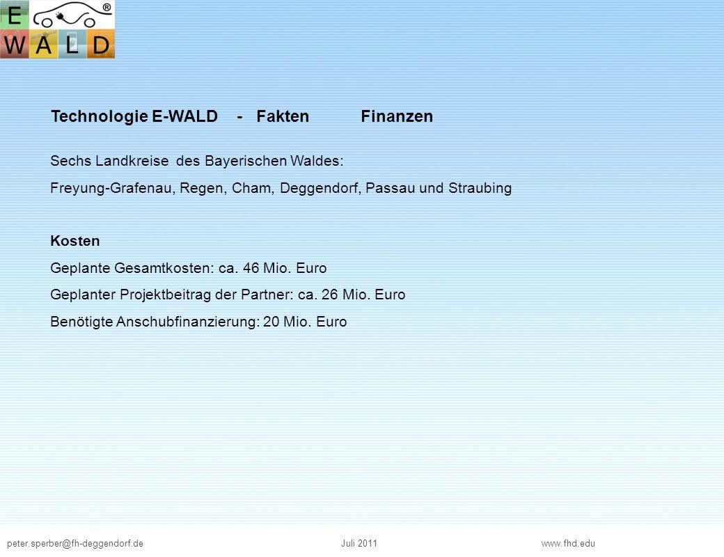 Technologie E-WALD - Fakten Finanzen