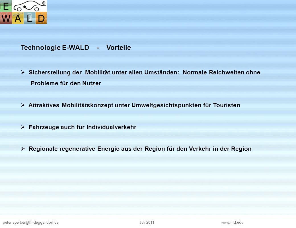 Technologie E-WALD - Vorteile