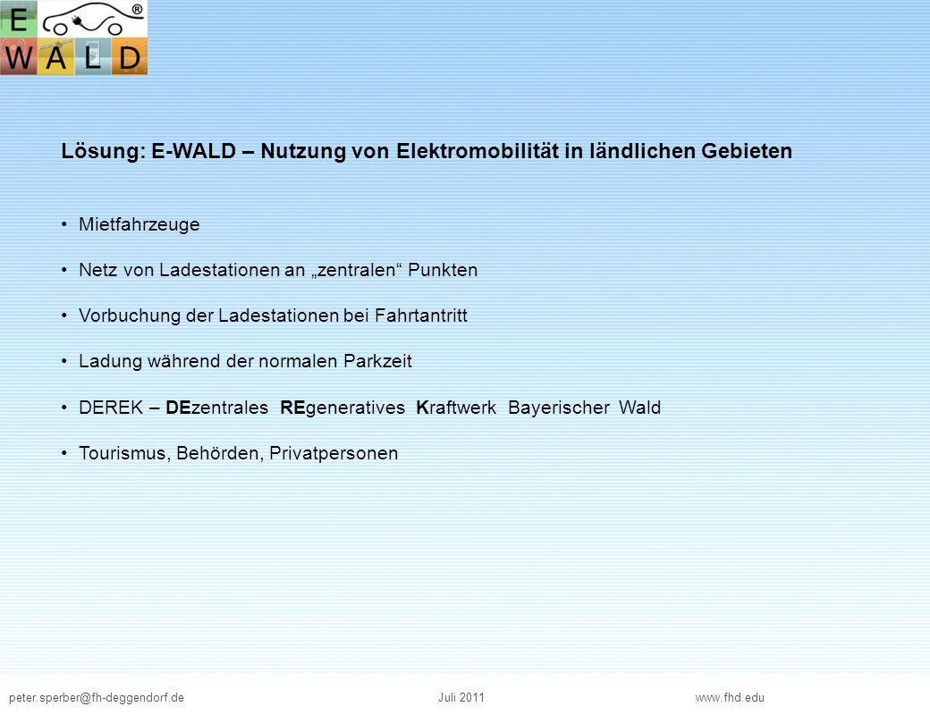 Lösung: E-WALD – Nutzung von Elektromobilität in ländlichen Gebieten