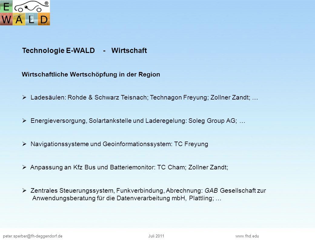 Technologie E-WALD - Wirtschaft