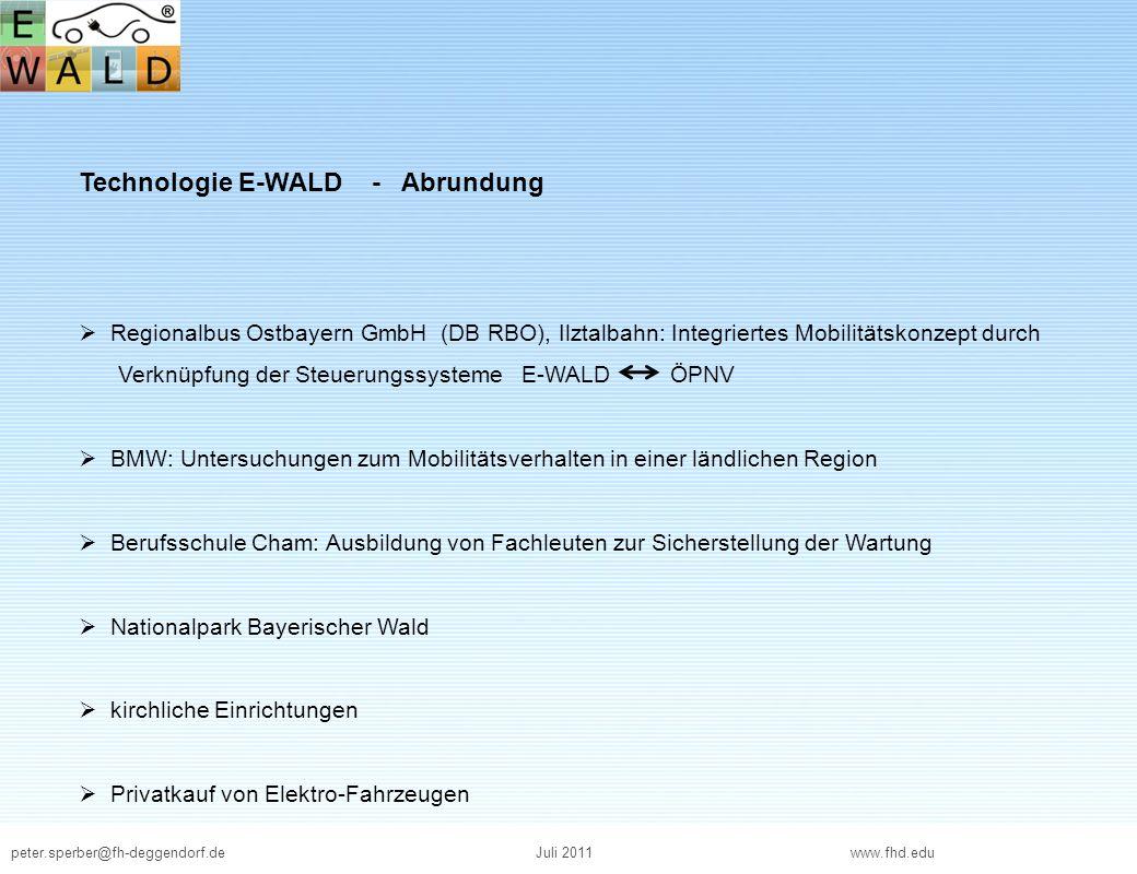 Technologie E-WALD - Abrundung