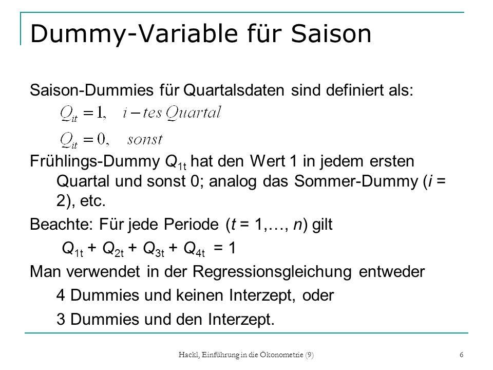 Dummy-Variable für Saison