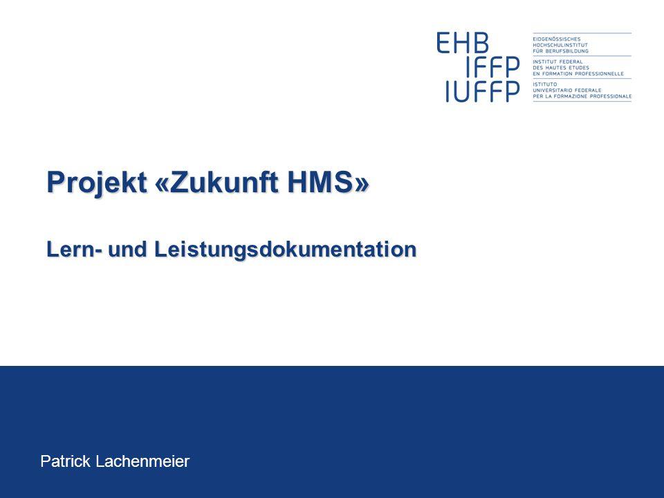 Projekt «Zukunft HMS» Lern- und Leistungsdokumentation