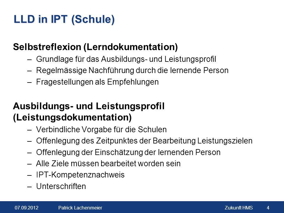 LLD in IPT (Schule) Selbstreflexion (Lerndokumentation)