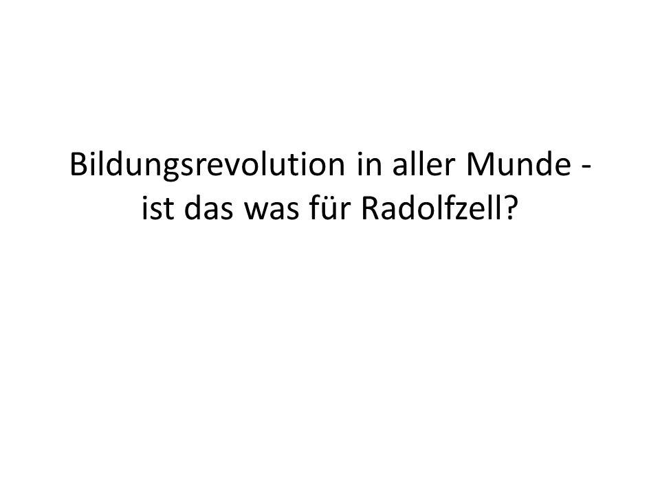 Bildungsrevolution in aller Munde - ist das was für Radolfzell