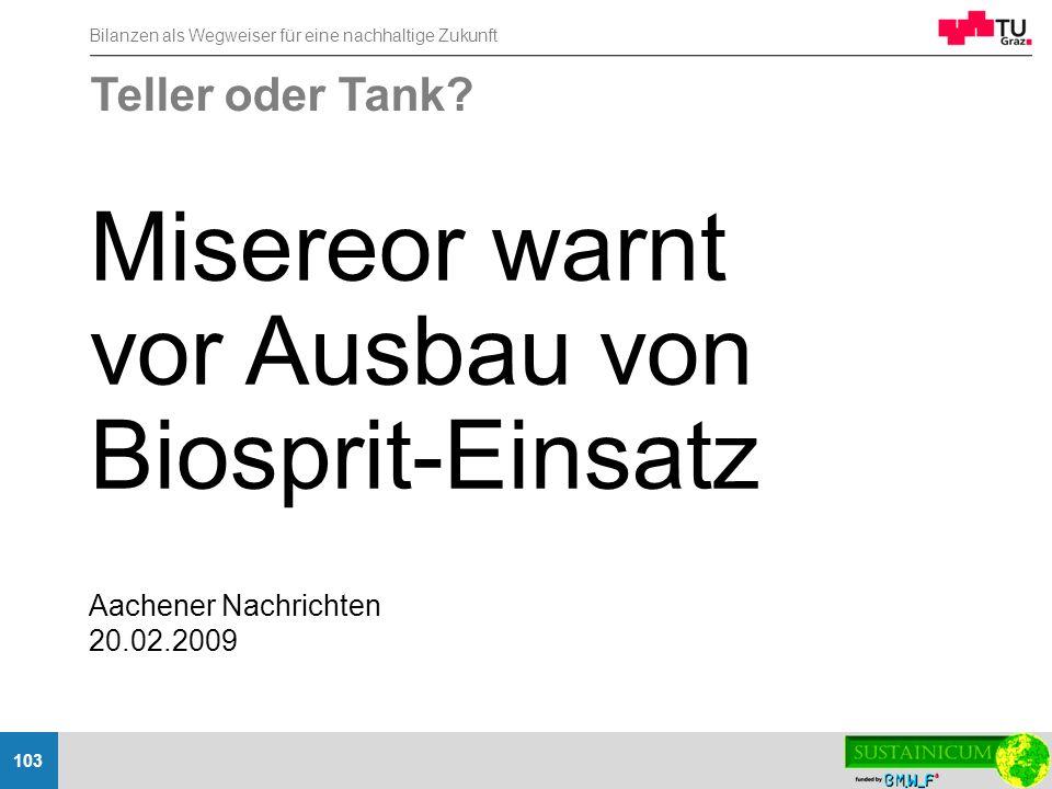 Misereor warnt vor Ausbau von Biosprit-Einsatz