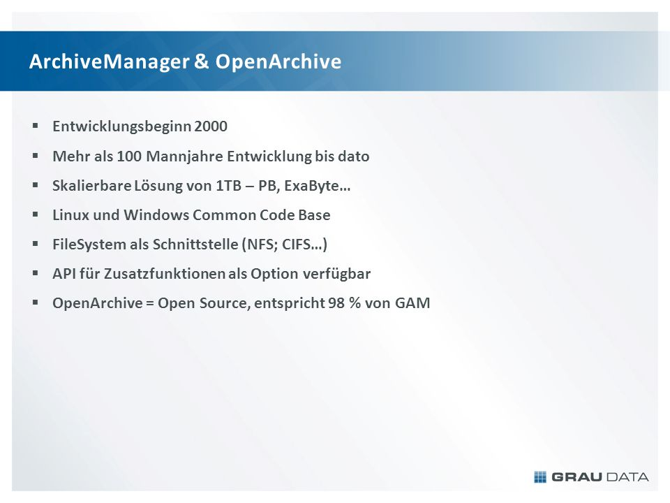 ArchiveManager & OpenArchive