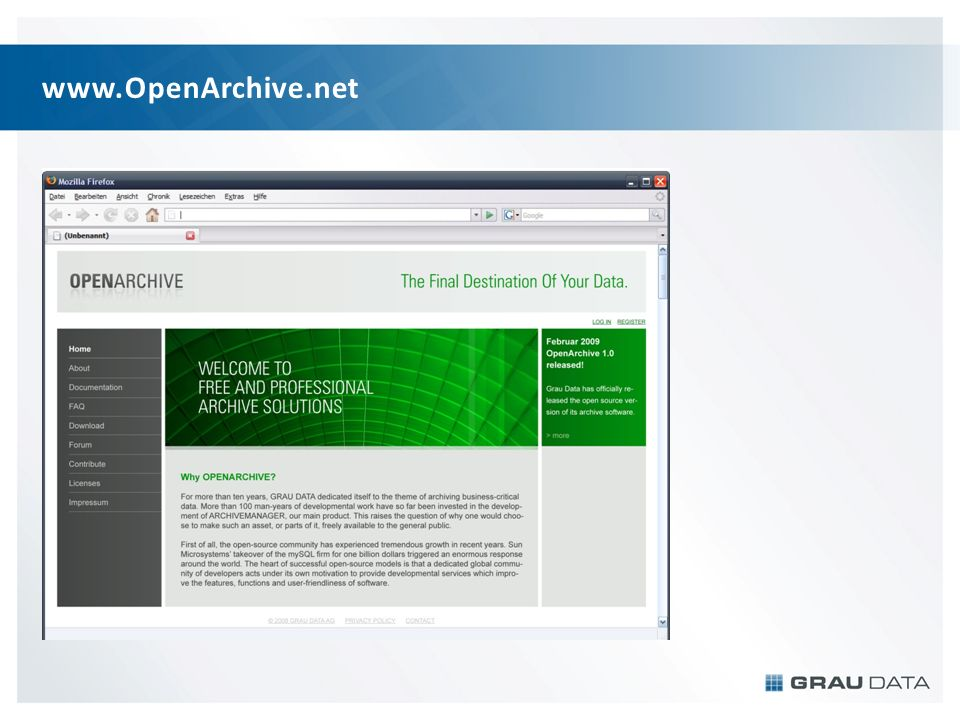 www.OpenArchive.net