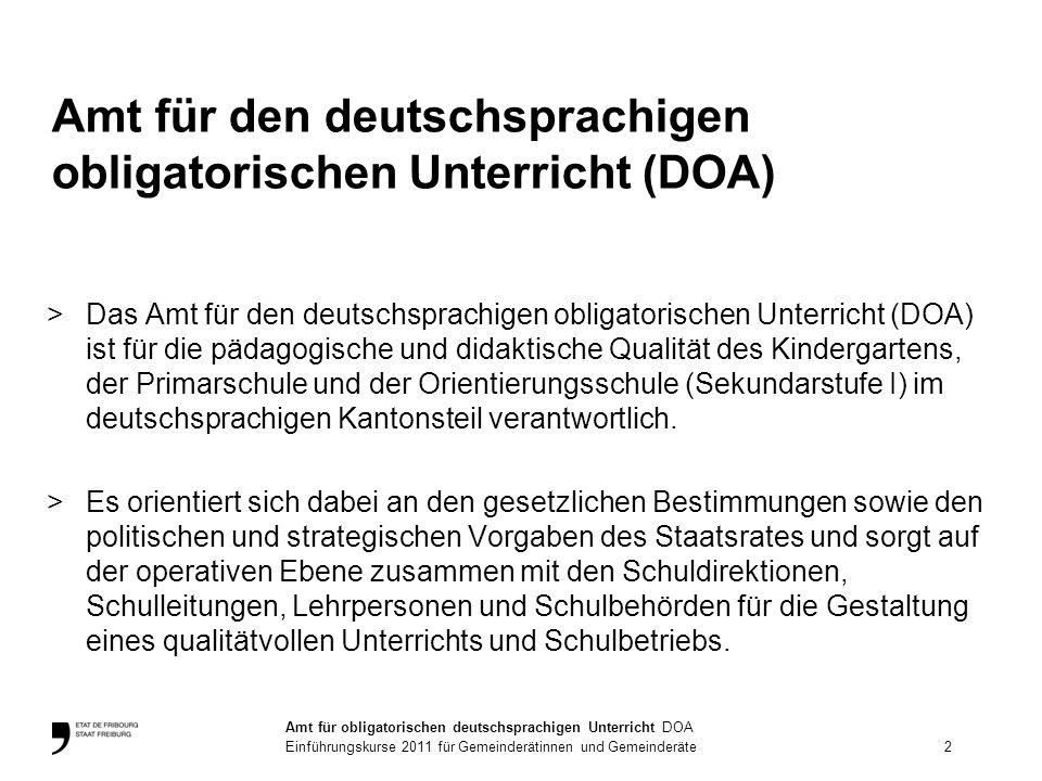Amt für den deutschsprachigen obligatorischen Unterricht (DOA)