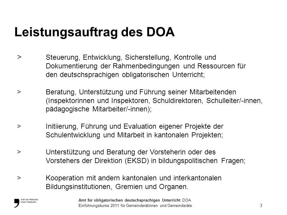 Leistungsauftrag des DOA