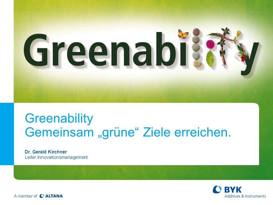 """Greenability Gemeinsam """"grüne Ziele erreichen."""