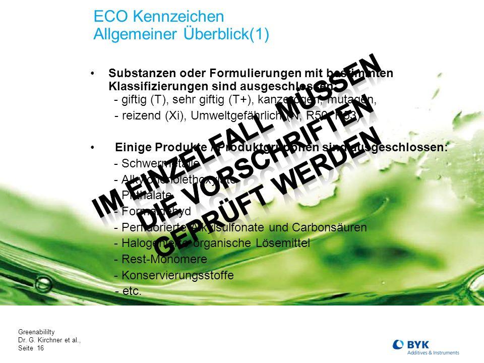 ECO Kennzeichen Allgemeiner Überblick(1)