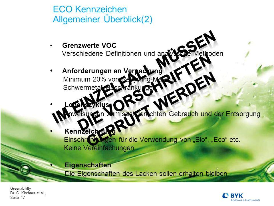 ECO Kennzeichen Allgemeiner Überblick(2)