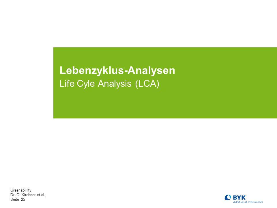 Lebenzyklus-Analysen