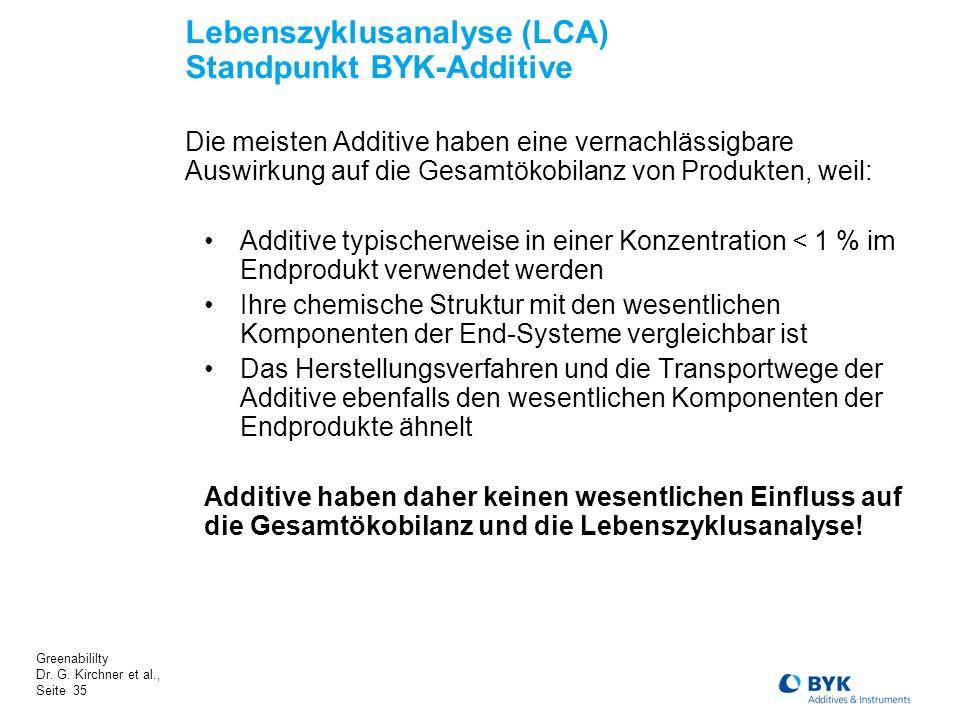 Lebenszyklusanalyse (LCA) Standpunkt BYK-Additive