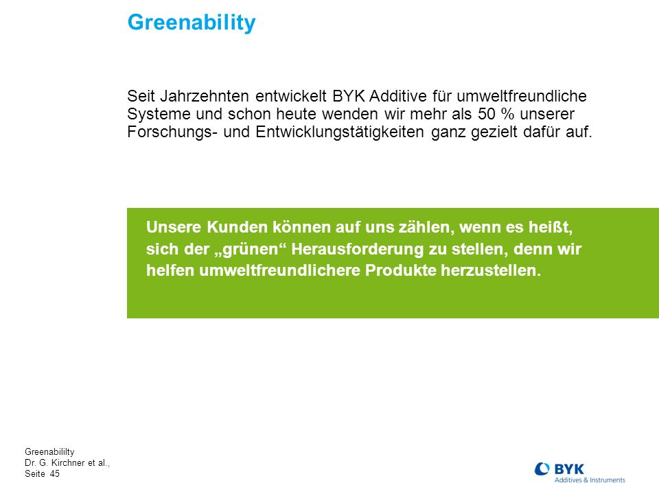 Greenability