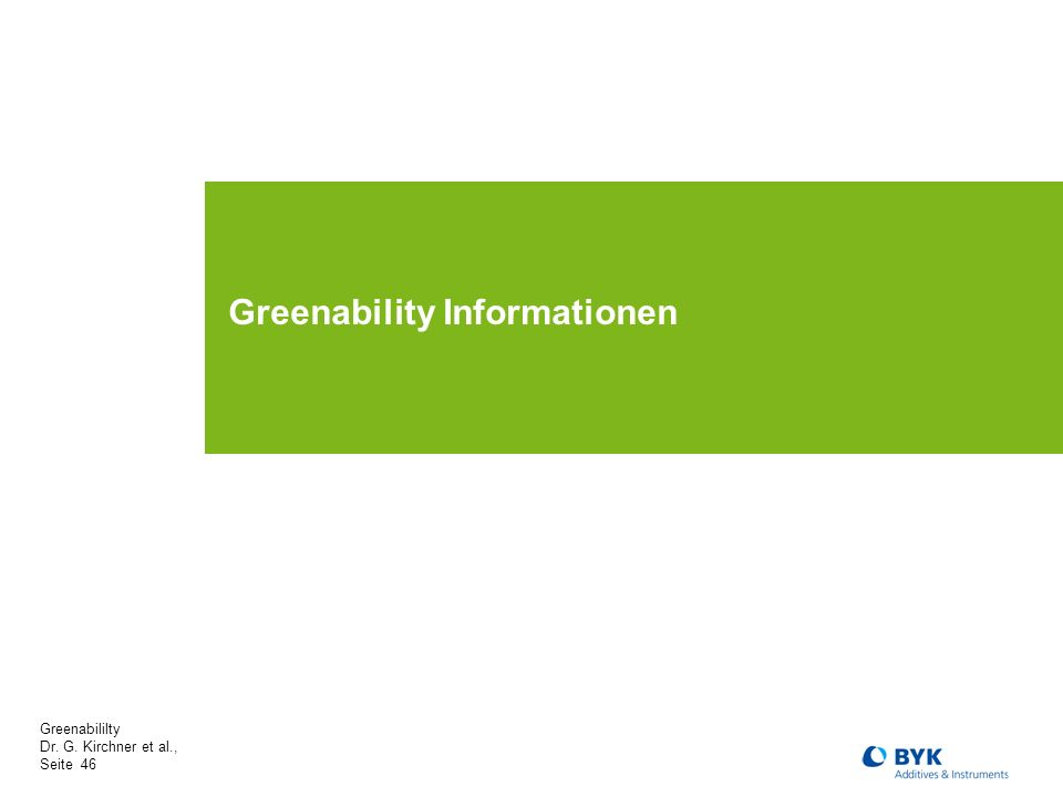 Greenability Informationen