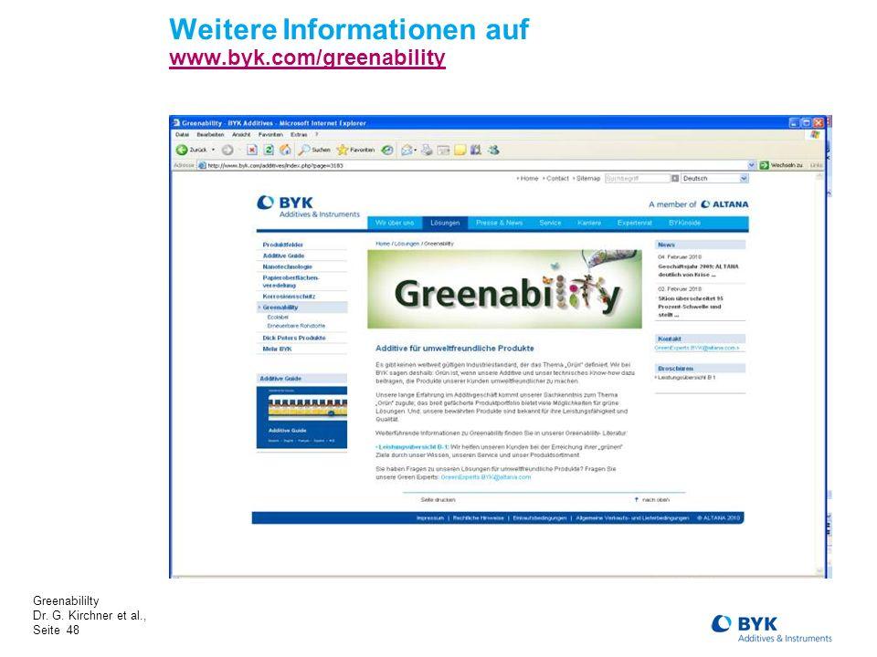 Weitere Informationen auf www.byk.com/greenability