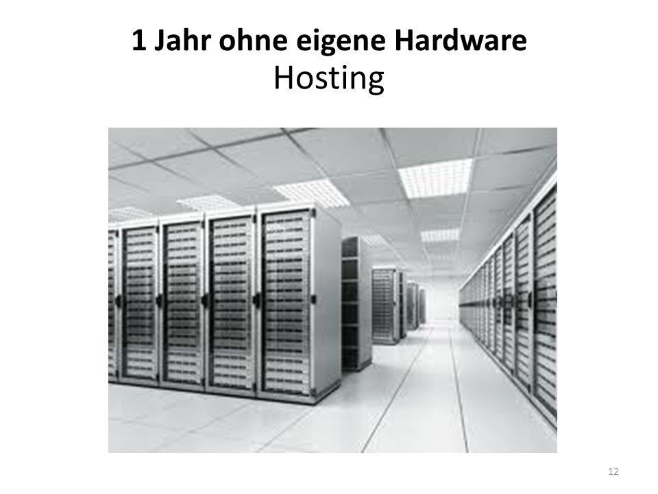 1 Jahr ohne eigene Hardware Hosting