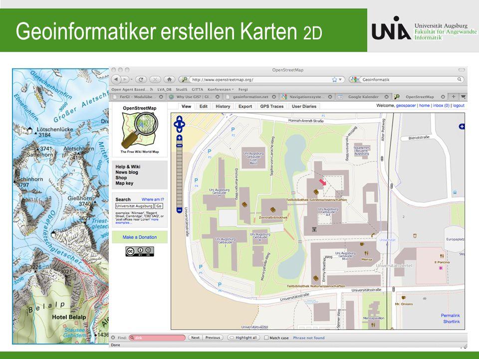 Geoinformatiker erstellen Karten 2D