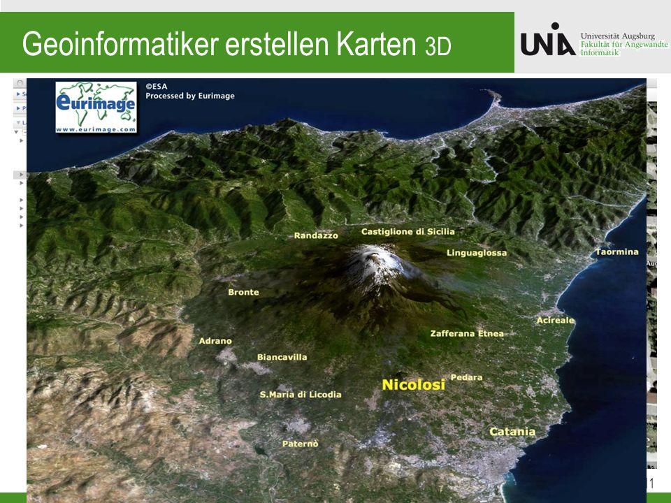 Geoinformatiker erstellen Karten 3D