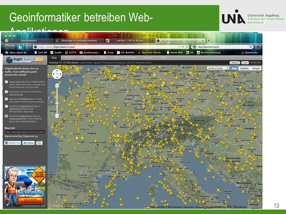 Geoinformatiker betreiben Web-Applikationen