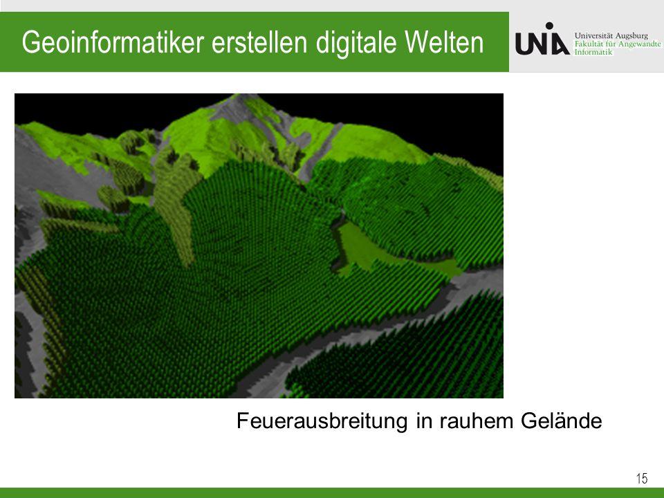 Geoinformatiker erstellen digitale Welten