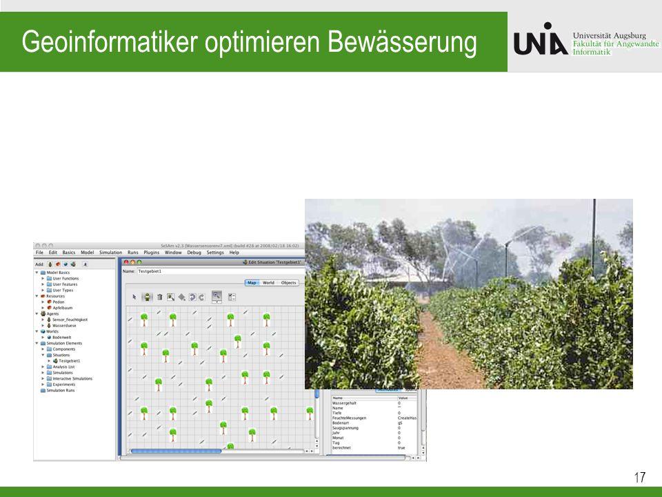 Geoinformatiker optimieren Bewässerung
